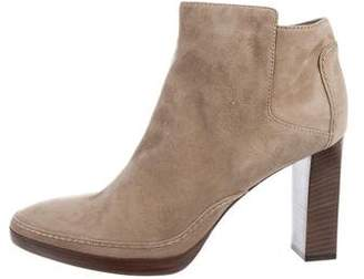 Loro Piana Suede Round-Toe Ankle Boots