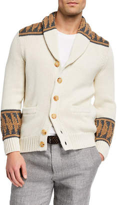 Brunello Cucinelli Men's Shawl-Collar Cotton Cardigan