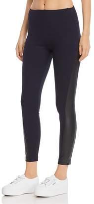 Lysse Gemma Faux-Leather-Trimmed Leggings