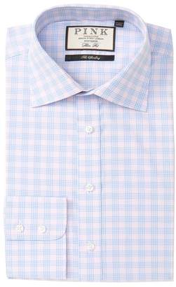 Thomas Pink Plaid The Sterling Classic Fit Dress Shirt