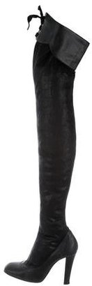 Stella McCartney Leather Thigh-High Boots $375 thestylecure.com