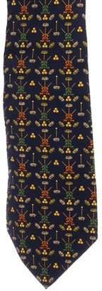 Salvatore Ferragamo Silk Graphic Tie