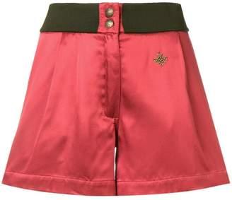 Mr & Mrs Italy logo plaque shorts