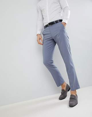 Asos DESIGN wedding slim suit pants in pastel blue