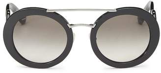 Prada Black Acetate Round Sunglasses