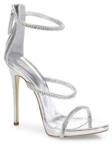 Giuseppe Zanotti Swarovski Crystal Accented Leather Sandals