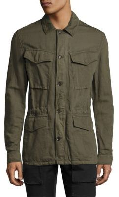 Belstaff Weymouth Cotton & Linen Military Jacket $695 thestylecure.com