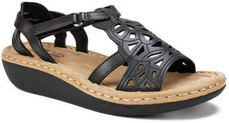 White Mountain Cliffs by Chambray Perforated Sandals Women Shoes