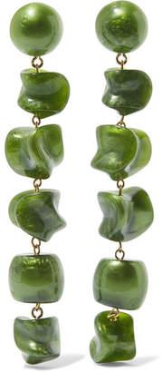 Cult Gaia Leo Gold-tone Resin Earrings - Green