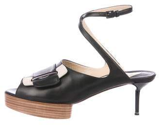 Nicholas Kirkwood Leather Platform Sandals