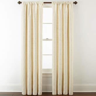 Royal Velvet Octavia Jacquard Rod-Pocket/Back-Tab Curtain Panel