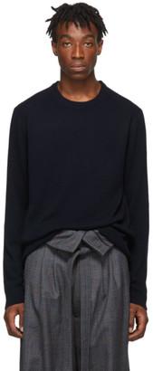 Wooyoungmi Navy Cashmere Crewneck Sweater
