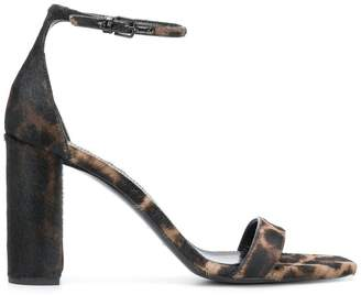 Saint Laurent Lou Lou leopard sandals