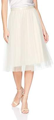 Jenny Yoo Women's Rosie Tulle Tea Length Skirt