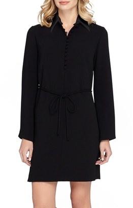 Tahari Long Sleeve Woven Shirtdress $138 thestylecure.com