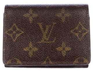 Louis Vuitton Monogram Business Card Holder Brown Monogram Business Card Holder