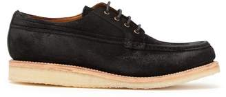 Grenson - Tucker Suede Derby Shoes - Mens - Black