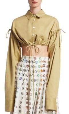 Rosie Assoulin Hot Pocket Crop Top