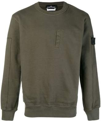Stone Island Shadow Project embroidered concealed pocket sweatshirt