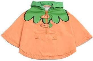 Stella McCartney Carrots Nylon & Cotton Jersey Rain Coat