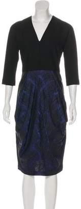 Zero Maria Cornejo Long Sleeve Midi Dress