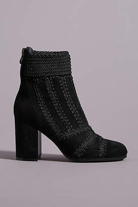 Silent D Crocheted Ankle Boots