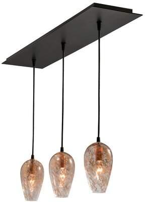Fleur De Lis Living Ruiz 3-Light Kitchen Island Bell Pendant Fleur De Lis Living