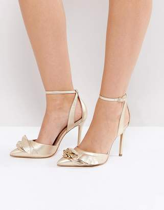 Carvela Metallic Ruffle Heeled Shoes