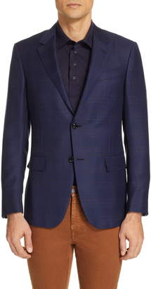 Ermenegildo Zegna Milano Classic Fit Plaid Wool Sport Coat