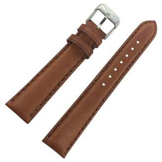 Dakota 26mm Light Brown Oil Tanned Soft Pad Geniune Leather Watch Band with Metal Buckle Light Brown