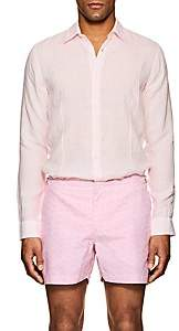 Orlebar Brown Men's Morton Linen Shirt - Pink