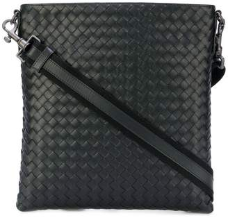 Bottega Veneta nero Intrecciato small messenger bag