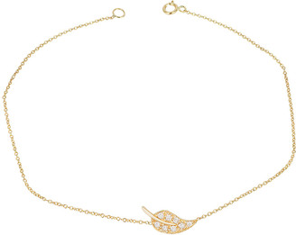 Ariana Rabbani 14K Diamond Leaf Bracelet