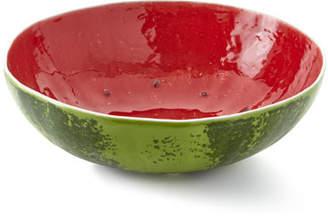 """Bordallo Pinheiro Watermelon Salad Bowl, 14""""Dia."""