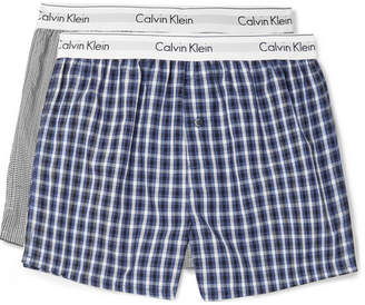 Calvin Klein Underwear Two-Pack Printed Cotton Boxer Shorts - Men - Blue