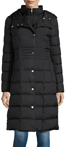 Cole Haan  Cole Haan Hooded Down Long Puffer Coat