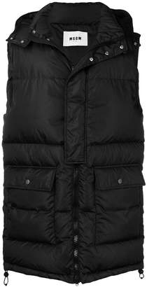 MSGM long length padded gilet