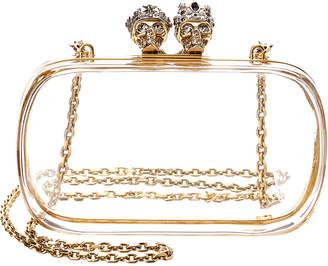Alexander McQueen Queen & King Transparent Box Clutch
