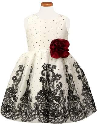 Sorbet Flocked Tulle Dress