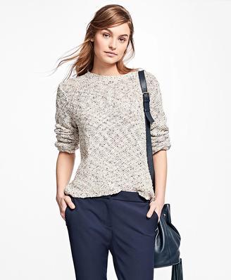 Boucle Crewneck Sweater $78 thestylecure.com
