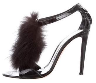 Gianvito Rossi Fur High-Heel Sandals