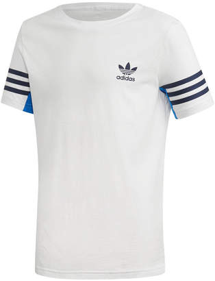 adidas Big Boys' 3-Stripe-Sleeve T-Shirt