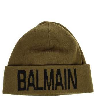Balmain Logo Intarsia Beanie
