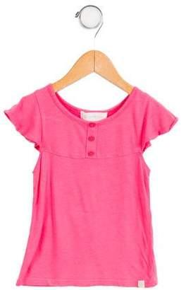 Lucky Jade Girls' Casual Short Sleeve Top