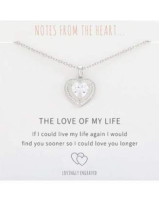 Notes From The Heart The Love of My Life Heart Pendant