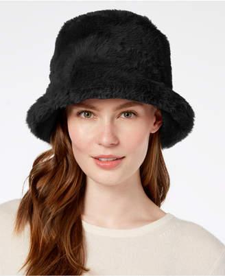 Steve Madden Solid Faux-Fur Bucket Hat