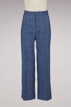 Etoile Isabel Marant Linen Oxy trousers