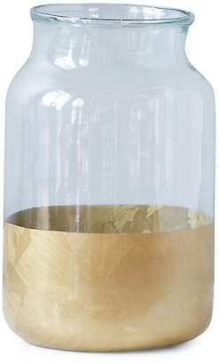 Color-Block Mason Jar - Clear/Gold - etuHOME