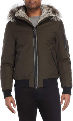 Mackage Army Real Fur-Trimmed Down Bomber
