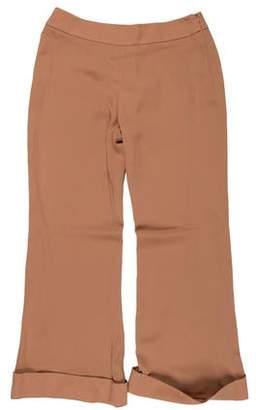 Giorgio Armani High-Rise Silk Pants w/ Tags